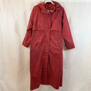 LL Bean Trench Coat Jacket Removable Wool Liner